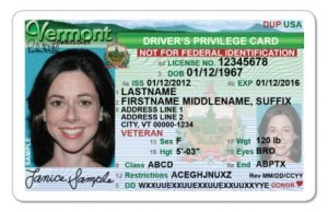 Photo courtesy of Vermont Department of Motor Vehicles PATHWAY TO WORK: Updated guidance from U.S. Citizenship and Immigration Services adds driver's licenses for illegal aliens to the list of acceptable documents for obtaining work with employers.