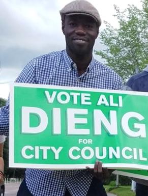 Photo courtesy of Ali Dieng for Burlington Ward 7 City Councilor Facebook page